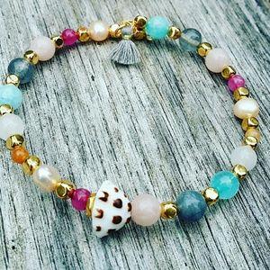 Jewelry - GP Gemstone mix Beaded wrap bracelet